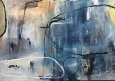 Census Found In Residence - Mixed media on canvas 46x99x2