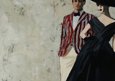 A Paris Wife - Rabo Mixed media on canvas 50x50