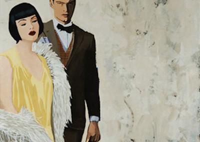 Chaperone - Rabo Mixed media on canvas 50x50