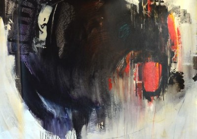 Closing In - Sydney Edmunds (Mixed media on canvas) 60x60