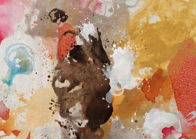 Convivial Hues III - Rikki Drotar (Mixed media on canvas) 40x30