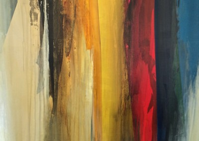 Melodic One - Mixed media on canvas 63x44 $6,500.00