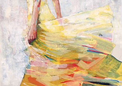 Pale Yellow Dress - Taylor Mixed media on canvas 64x44 $5,200.00