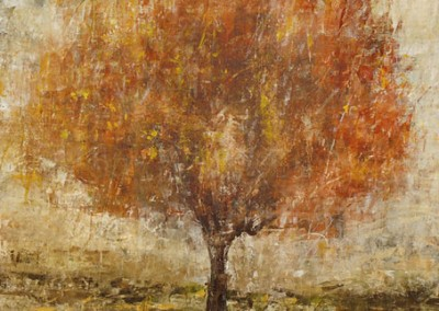 Rust Lit Tree - Maas Mixed media on canvas 40x40 $3,200 00