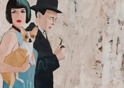 Vicious - Rabo Mixed media on canvas 50x50