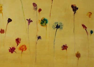 Wild Flowers I - Mixed media on paper 30x30