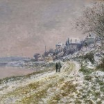 Claude Monet, Le Chemin d'Epinay, effet de neige (n.d.). (estimate- $6 million–8 million). Photo- Courtesy Sotheby's.