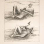 Henry Moore, Two reclining figures, c.1977. Etching with aquatint. 30 x 22 cm. James Hyman Gallery.