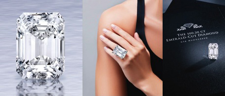 24/04/15 – The 100-carat diamond auctions For $22 million In New York Sotheby's via CNBC and Pursuitist.