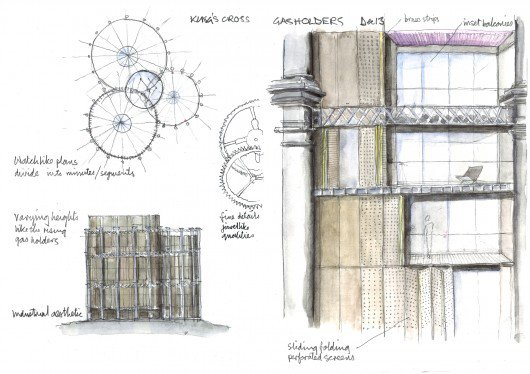 8/5/15 – Wilkinson Eyre Architects to Bring New Life to King's Cross Gasholders