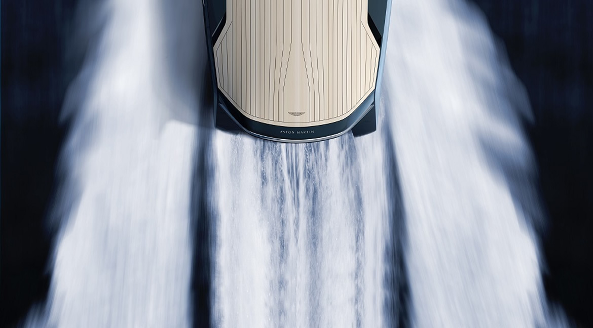 4/5/15 – Aston Martin Designs AM37 Powerboat With Quintessence Yachts via Pursuitist and Business Insider